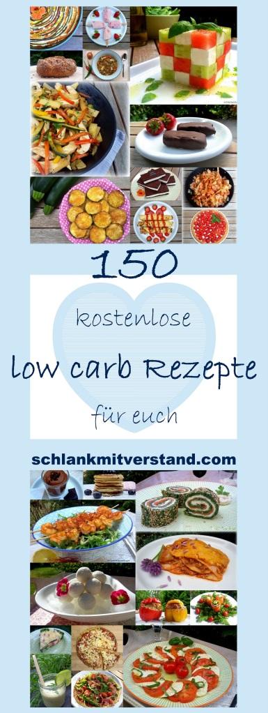 150 kostenlose low carb Rezepte für euch