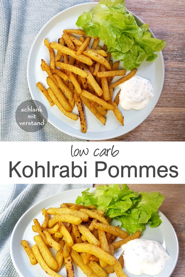 Kohlrabi Pommes low carb