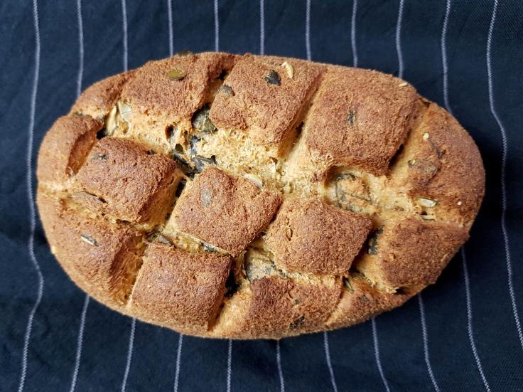 low carb Brot mir Kürbiskernen Rezept