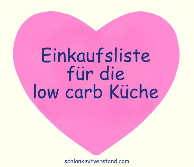 Einkaufsliste für die Low Carb Küche – Low carb Rezepte ...