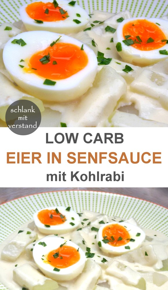 low carb Eier in Senfsauce