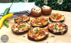 Auberginen Mini Pizzen low carb Rezept