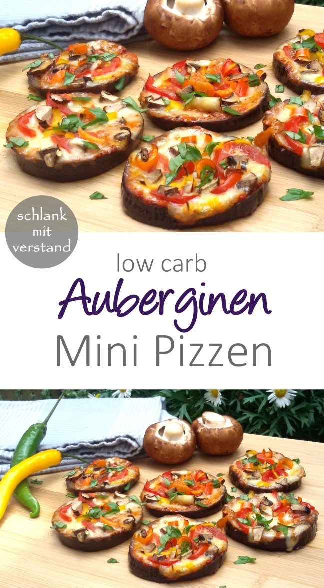 low carb Auberginen Mini Pizzen Rezept