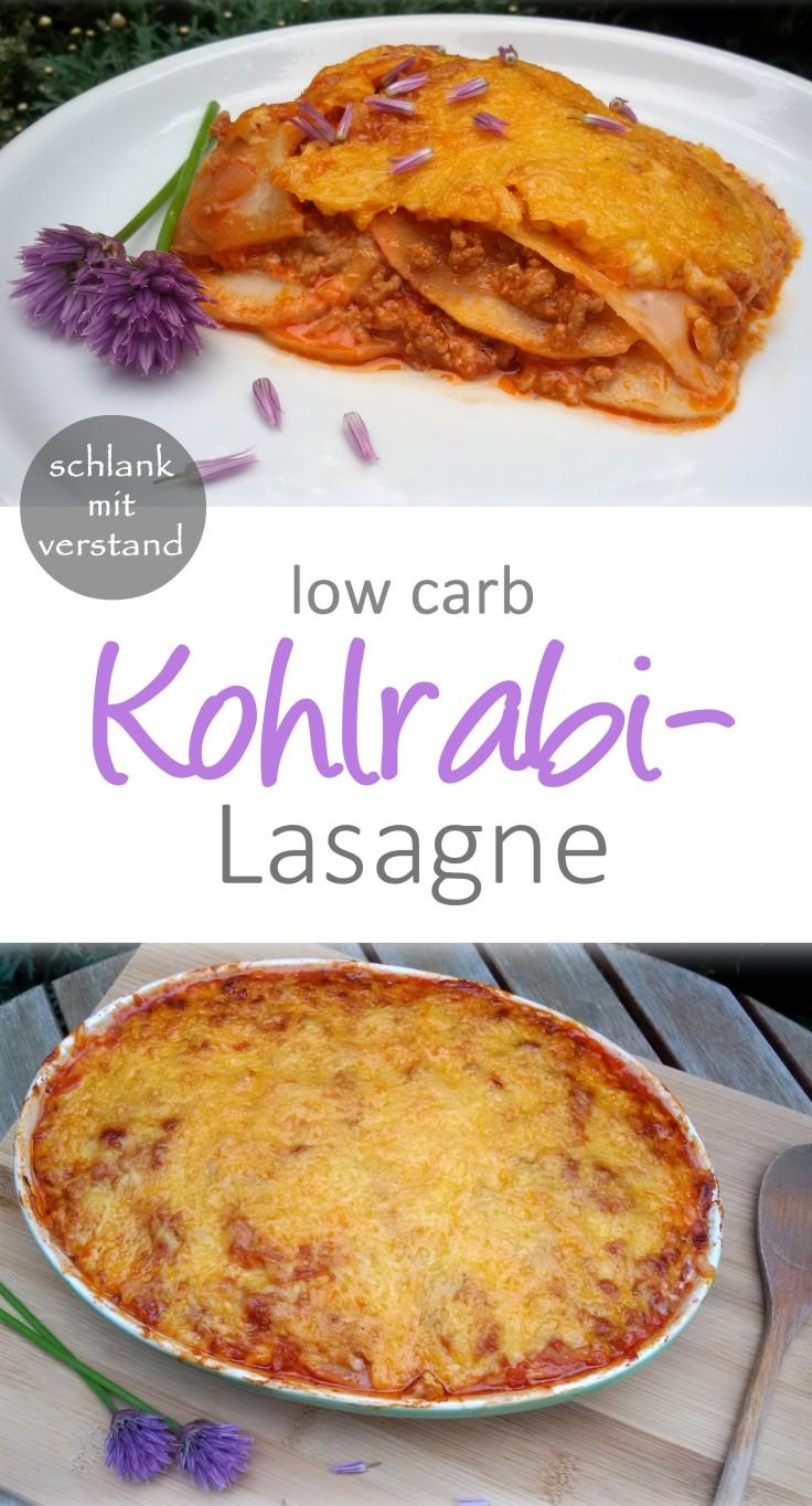 low carb Kohlrabilasagne Rezept