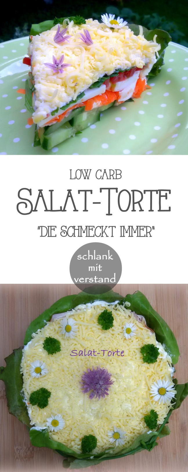 low carb Salattorte