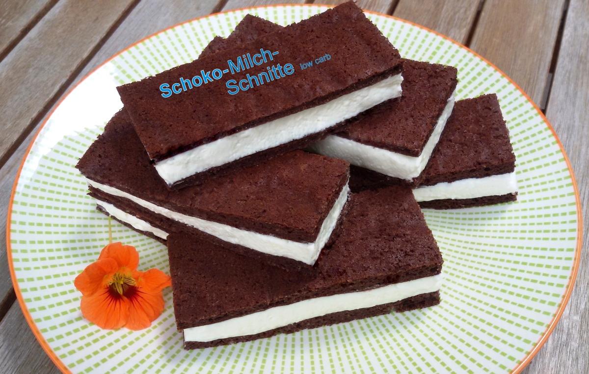 low carb Schoko-Milch-Schnitte einfach selbst gemacht