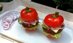 Tomatenburger low carb