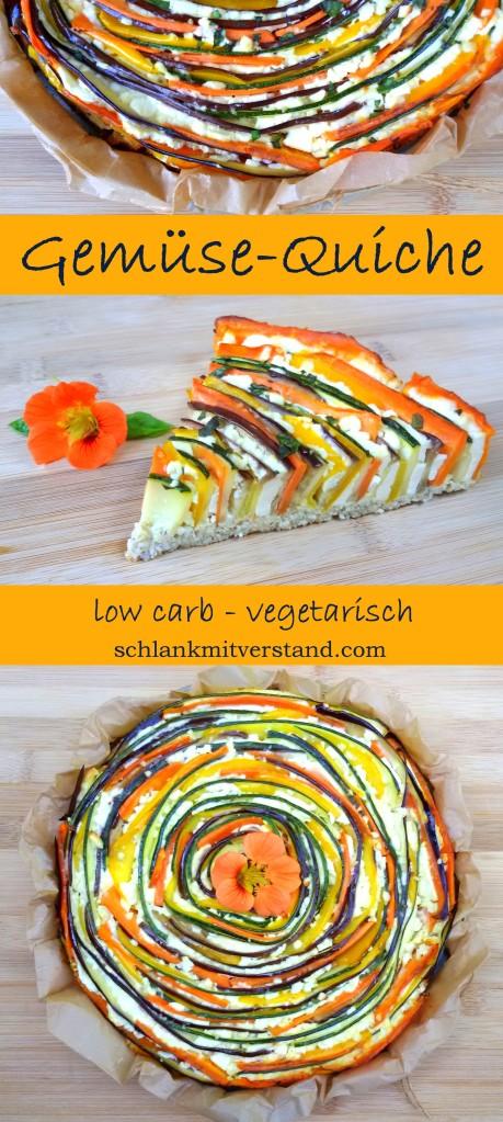 Gemüsequiche low carb Rezept