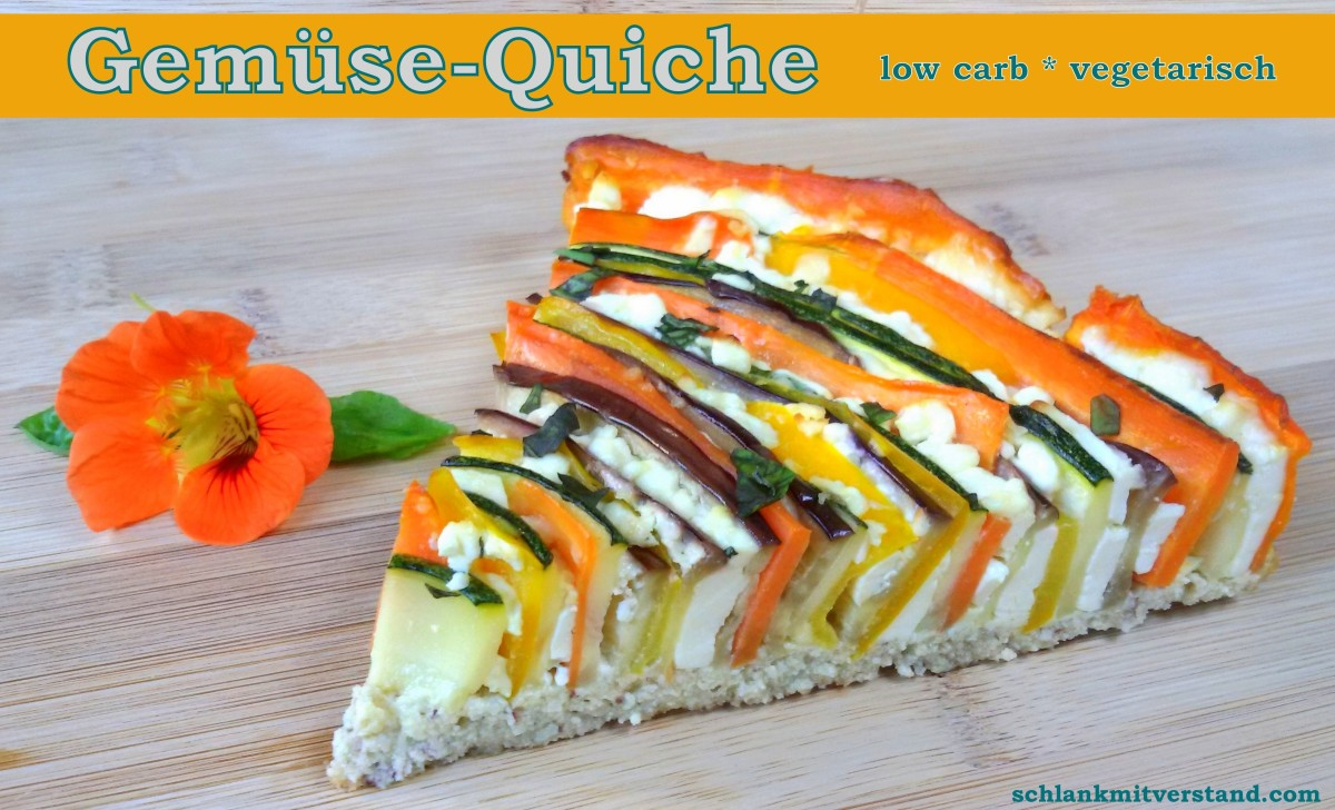 Gemüse-Quiche low carb, vegetarisch, glutenfrei