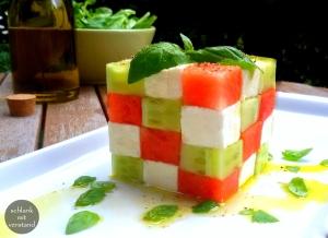 Melonen-Feta Salat low carb Rezept