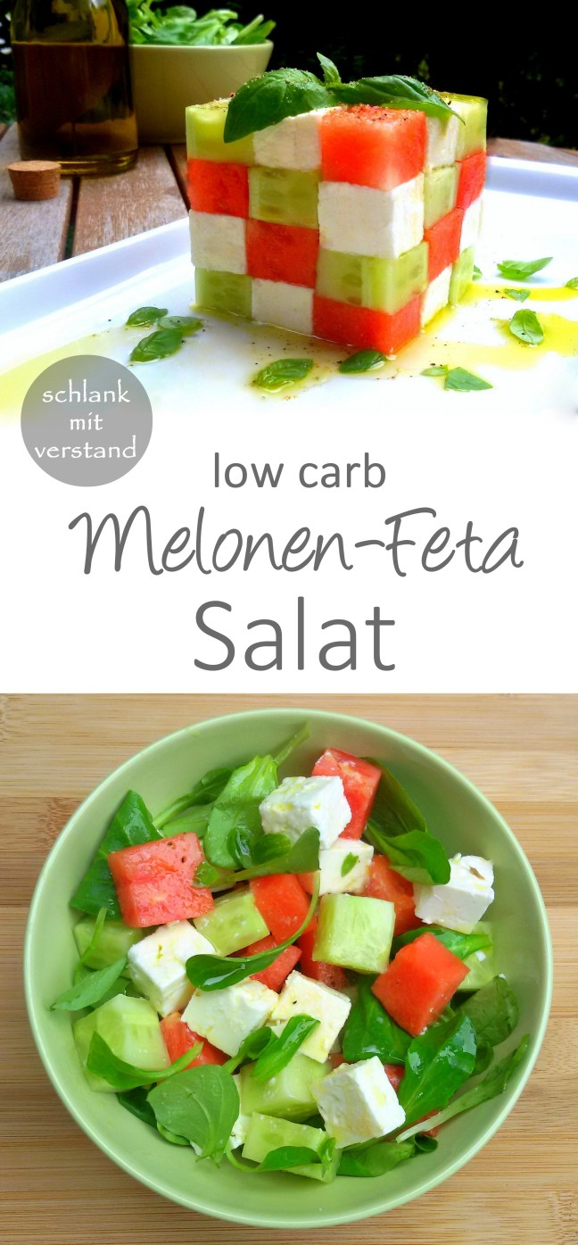 Melonen-Feta Salat low carb