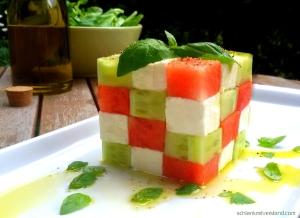 Melonen-Feta-Salat low carb
