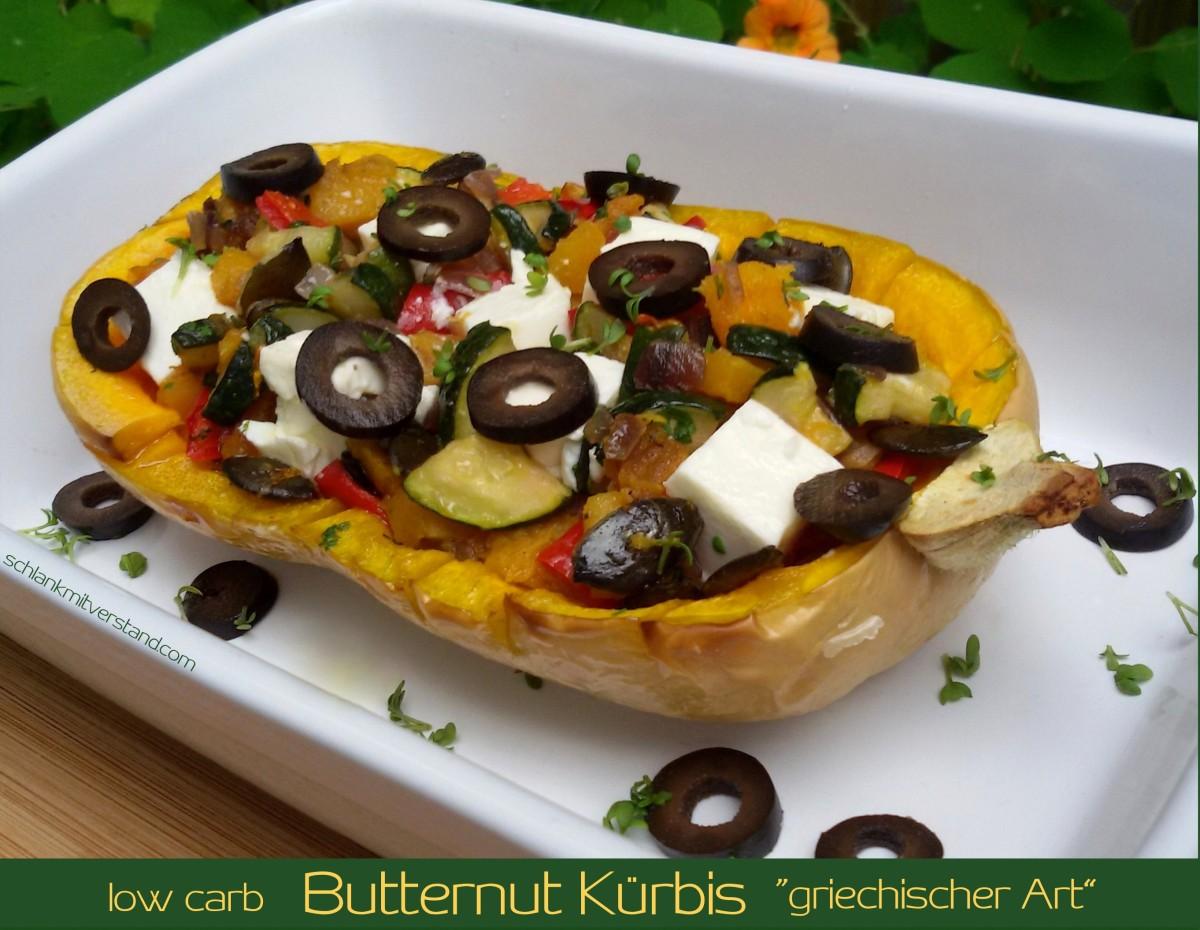 butternut k rbis griechischer art low carb vegetarisch schlank mit verstand. Black Bedroom Furniture Sets. Home Design Ideas