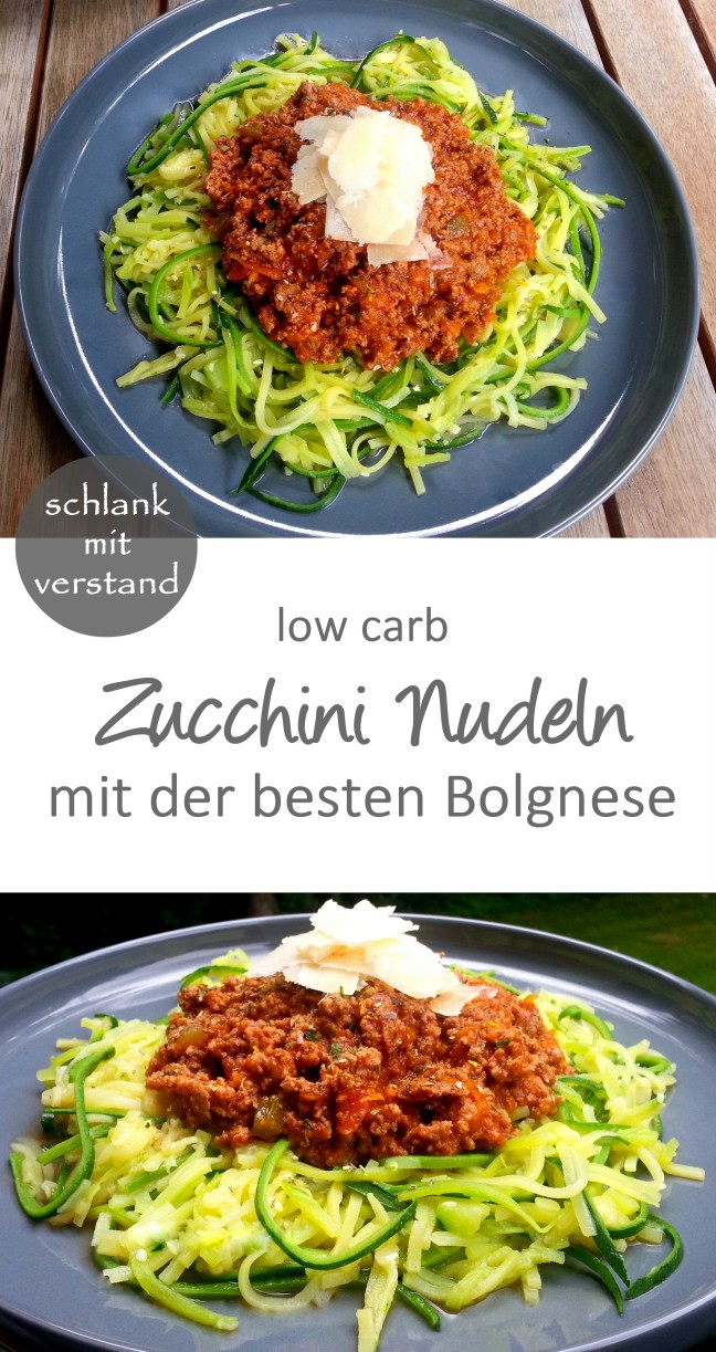 zucchini nudeln bolognese low carb schlank mit verstand. Black Bedroom Furniture Sets. Home Design Ideas
