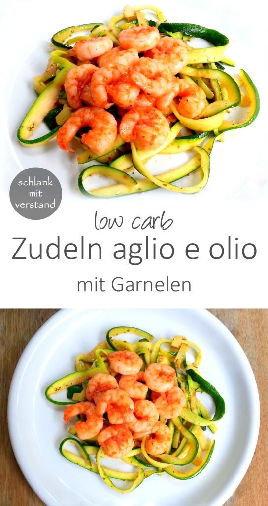 Zudeln aglio e olio low carb