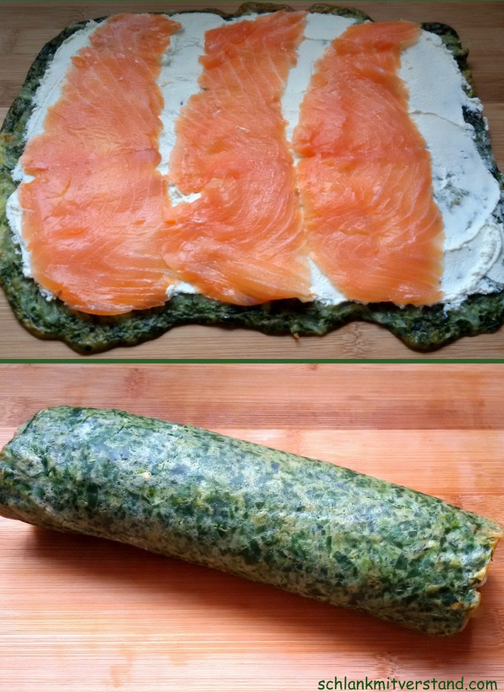 Spinat-Lachs-Rolle low carb
