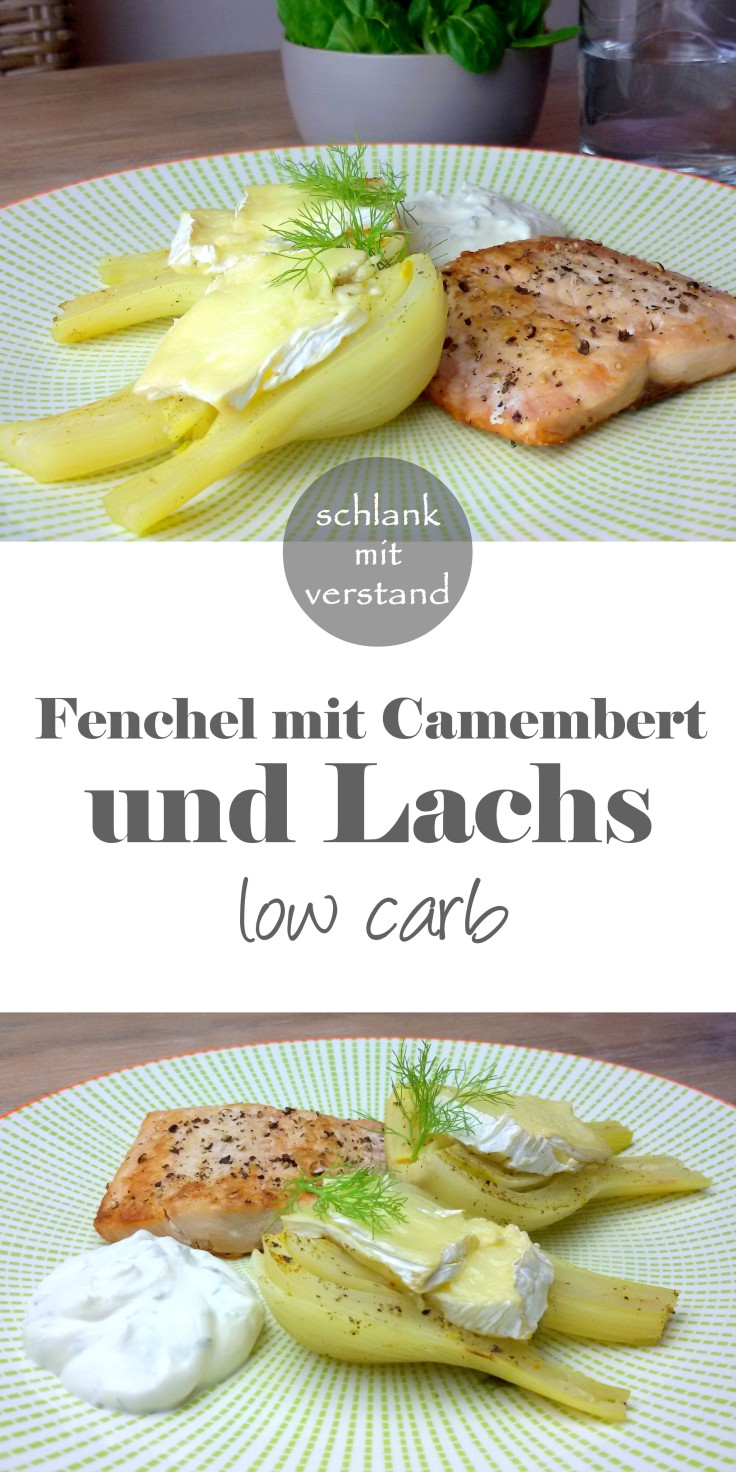 Fenchel mit Camembert und Lachs low carb
