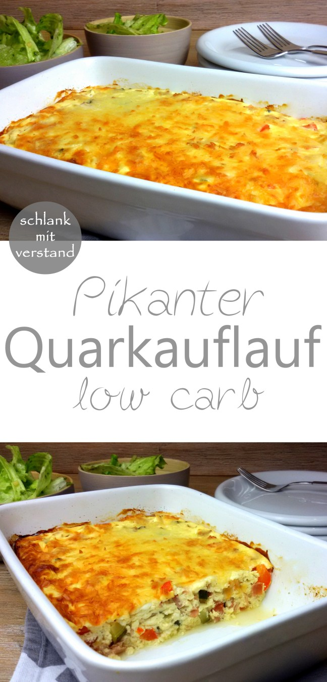 Pikanter Quarkauflauf low carb