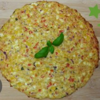 schnelle low carb Schüttel-Pizza