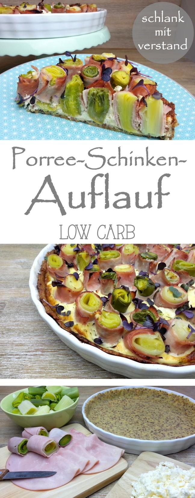 Porree-Schinken-Auflauf low carb Rezept
