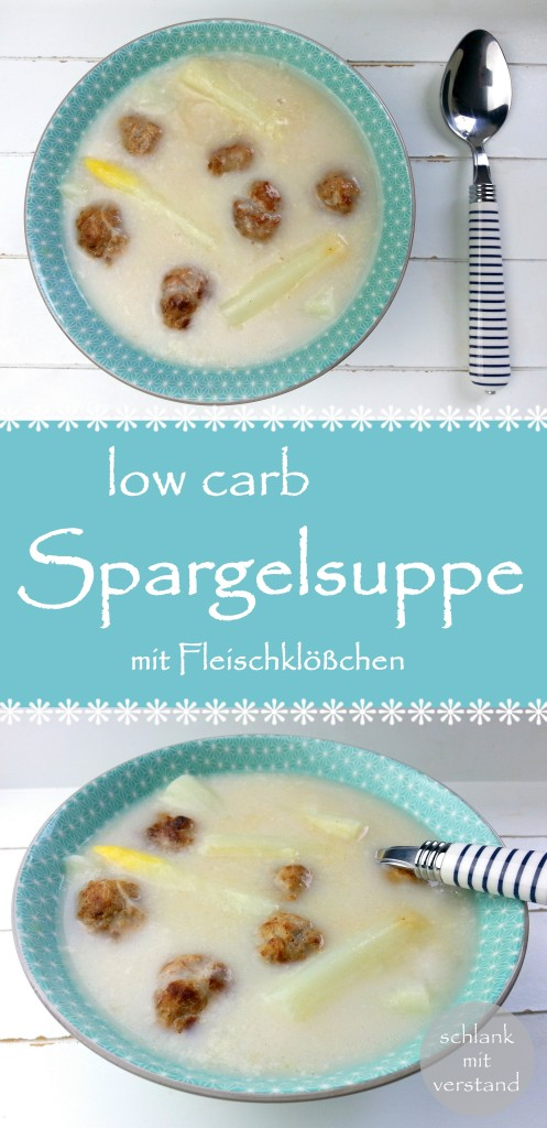 Spargelsuppe low carb