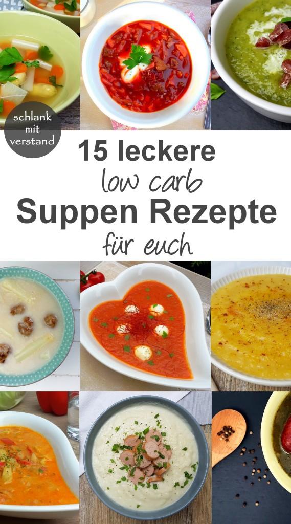 Die 15 besten low carb Suppen Rezepte