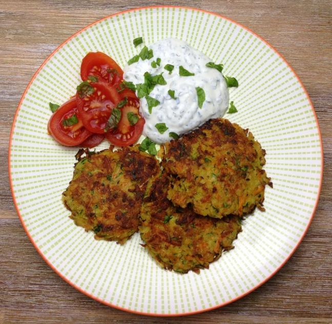 Gemüsepuffer low carb
