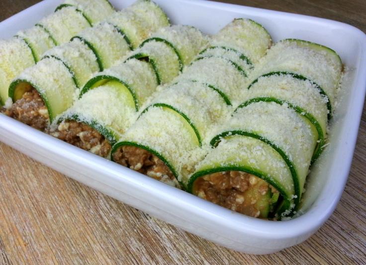 leckere Zucchini-Cannelloni low carb Rezept