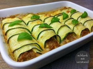 Zucchini Cannelloni low carb Rezept