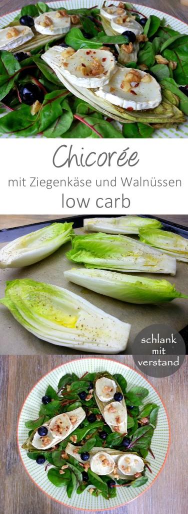 Chicoree mit Ziegenkäse low carb schlankmitverstand