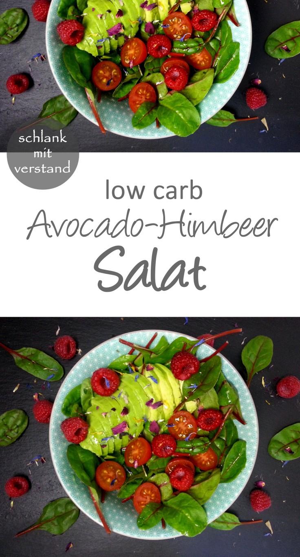 low carb Avocado Himbeer Salat