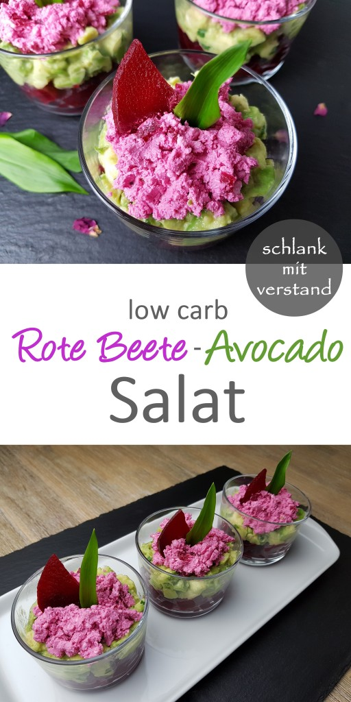 Rote Beete-Avocado Salat low carb Rezept