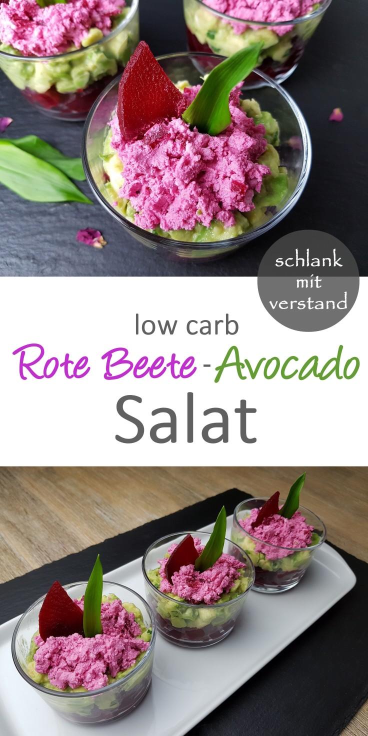 Rote Beete-Avocado Salat low carb Rezept