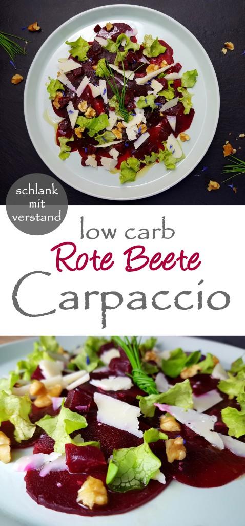 Rote Beete Carpaccio Rezept schlankmitverstand