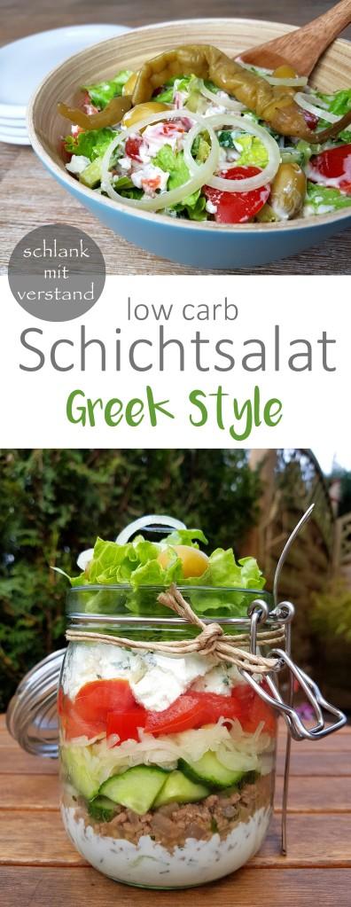 low carb Schichtsalat greek style