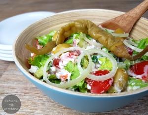 low carb Schichtsalat griechischer Art