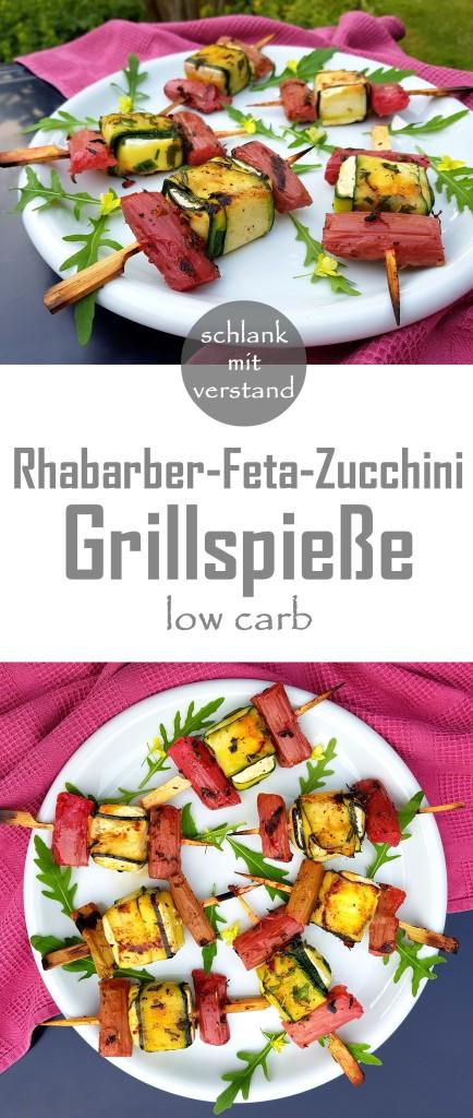 Rhabarber-Feta-Zucchini Grillspieße low carb