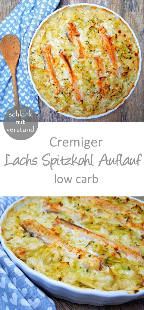 Lachs Spitzkohl Auflauf low carb