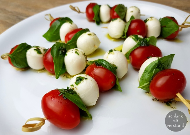 Fingerfood Tomate Mozzarella low carb
