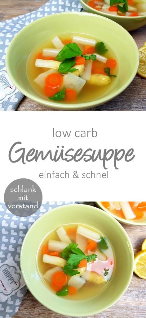 low carb Gemüsesuppe Rezept