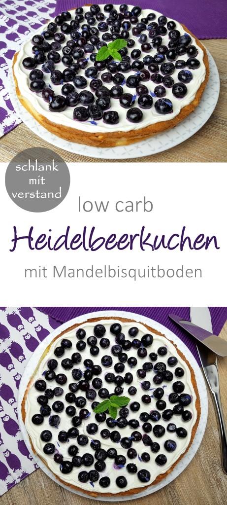 low carb Heidelbeerkuchen Rezept
