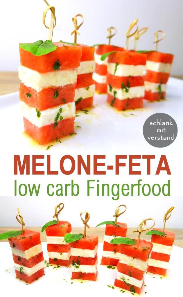 low carb Melonen-Feta-Spieße