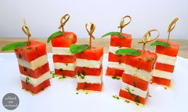 Melonen-Feta Fingerfood low carb