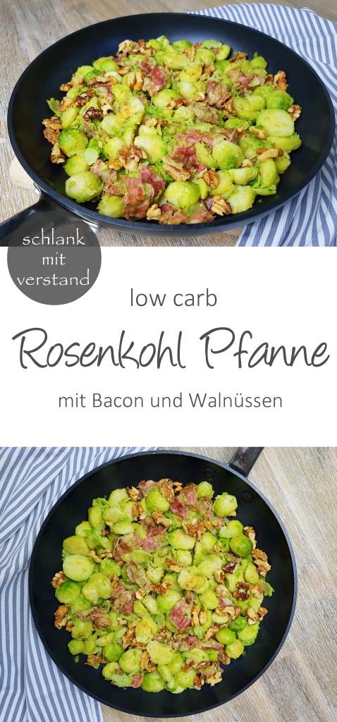 low carb Rosenkohlpfanne mit Bacon und Walnüssen