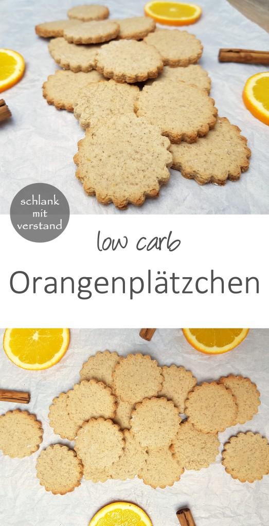 low carb Orangenplätzchen