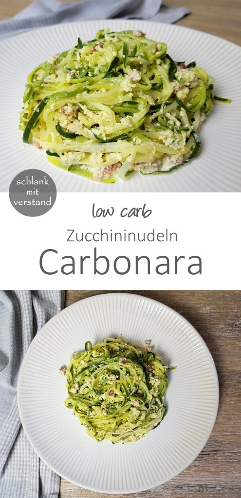 low carb Zucchini Nudeln Carbonara