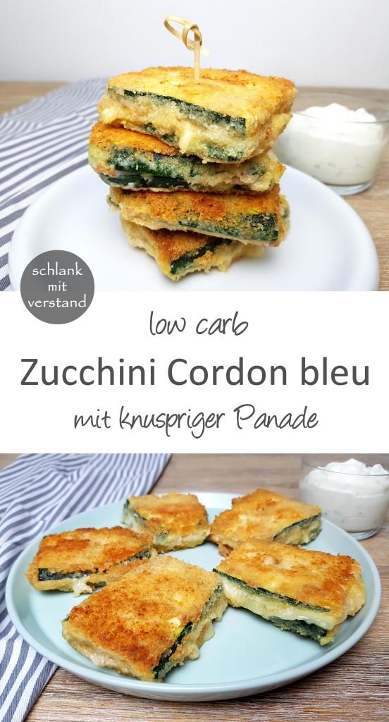 Zucchini Cordon bleu low carb