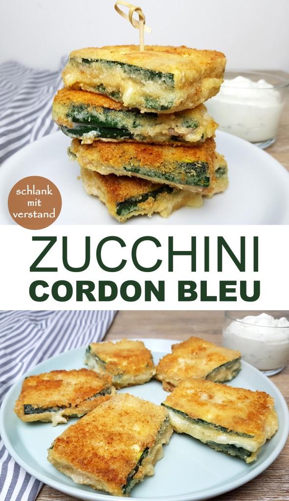 low carb Cordon bleu mit Zucchini