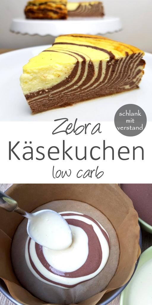 Zebra Käsekuchen low carb
