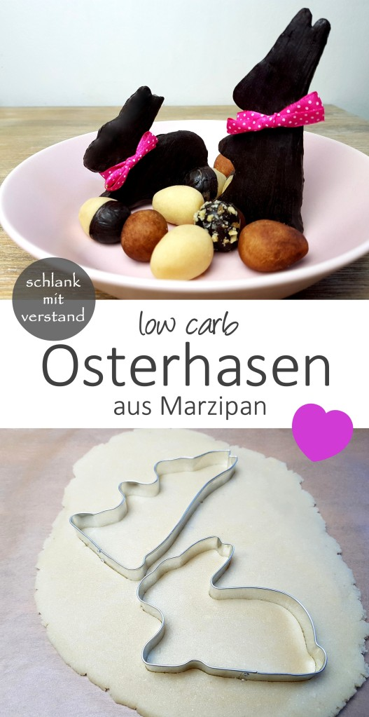 low carb Osterhasen aus Marzipan Rezept